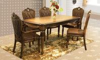 Bàn ghế phòng khách Louis France - 6 ghế