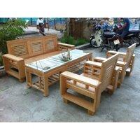 Bàn ghế phòng khách salon gỗ Đức Khang EPK-209