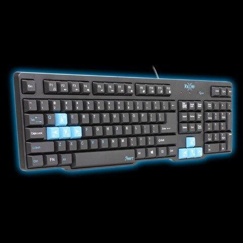 Bàn Phím máy tính chuyên Game Có Dây FoxXray Swift Blacklight
