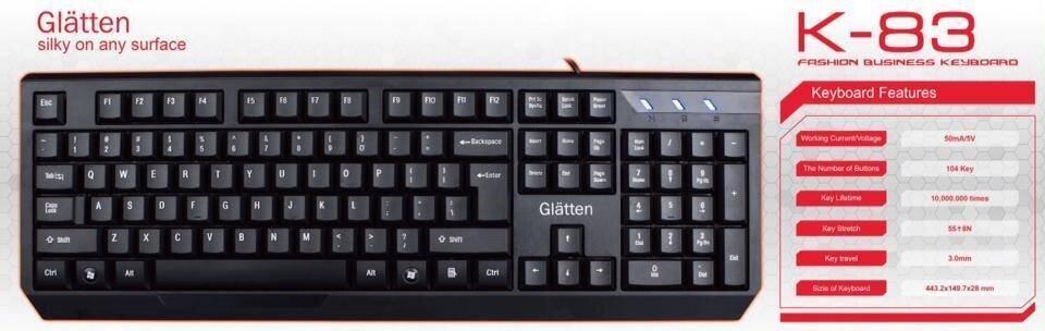 Bàn phím máy tính Glaten K83