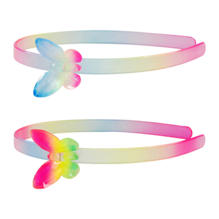 Băng đô bươm bướm cầu vồng Pink Poppy HB106