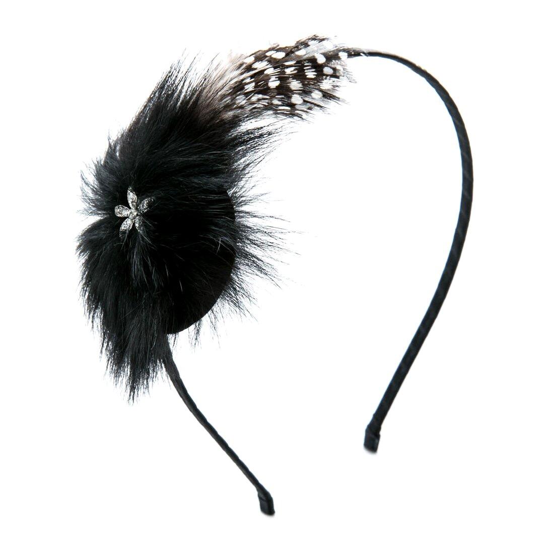 Băng đô cài tóc đính lông vũ và đá Chic Et Plus CEP240117
