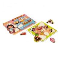 Bảng ghép hình các món ăn & các loại bánh Hongji Toys