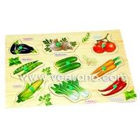 Bảng ghép hình có núm Các loại rau củ quả Veesano VDN01
