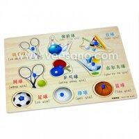 Bảng ghép hình có núm Đồ dùng thể thao Veesano VDN01