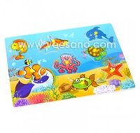 Bảng ghép hình có núm Sinh vật biển Veesano VDN01