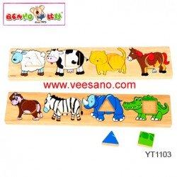 Bảng phân biệt vật nuôi hình khối Benho YT1103