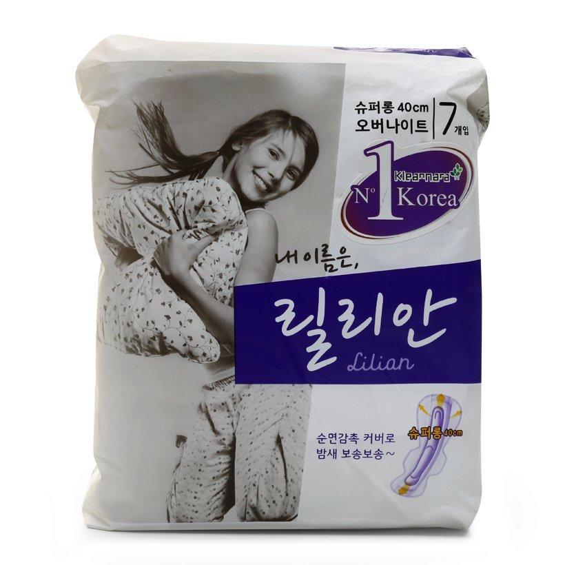 Băng vệ sinh ban đêm Kleannara Lilian Super Long 7 miếng