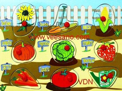 Bảng xếp hình Rau củ Veesano VND