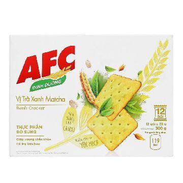 Bánh AFC Cracker Nhân Trà Xanh 300g