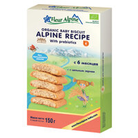 Bánh ăn dặm Fleur Alpine Organic Prebiotic 150g