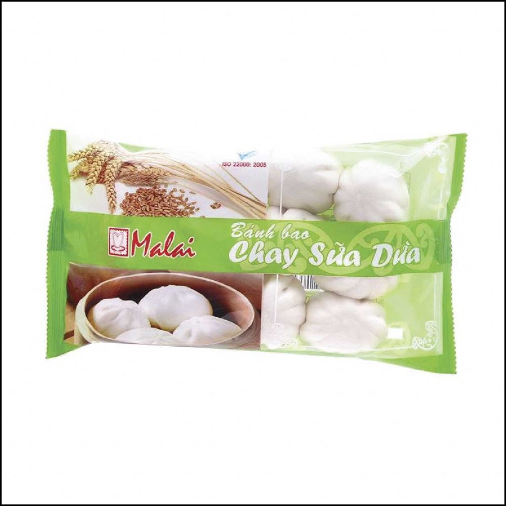 Bánh bao chay sữa dừa Malai gói 12 chiếc 180g