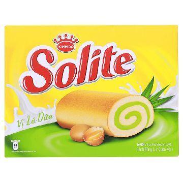 Bánh bông lan cuộn kem vị lá dứa Solite hộp 288g (16 cái)