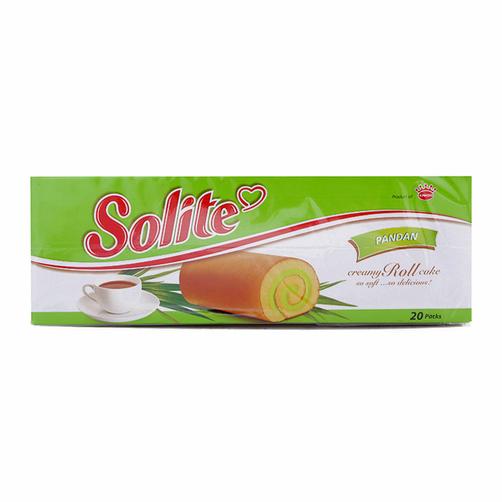 Bánh bông lan cuốn kem vị lá dứa Solite hộp 360g