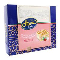 Bánh bông lan hương sữa dâu Hura Deli hộp 168g