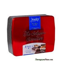 Bánh Desobry The Belgian Biscuitier JEWELS hộp thiếc màu đỏ 1kg