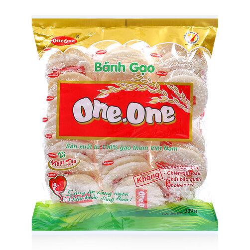 Bánh gạo vị ngọt dịu One-One gói 230g