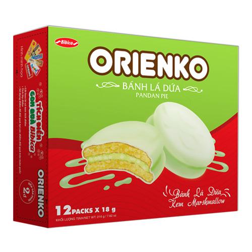 Bánh lá dứa Orienko 216g
