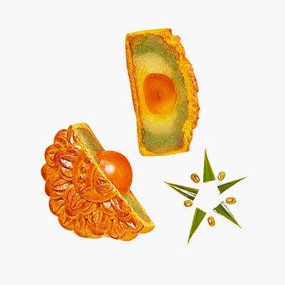 Bánh nướng Kinh đô đậu xanh lá dứa 2 trứng ĐB 250g