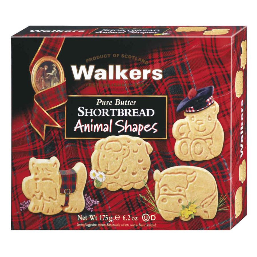 Bánh quy bơ giòn Short Bread hình thú Animal hiệu Walkers – hộp 175g