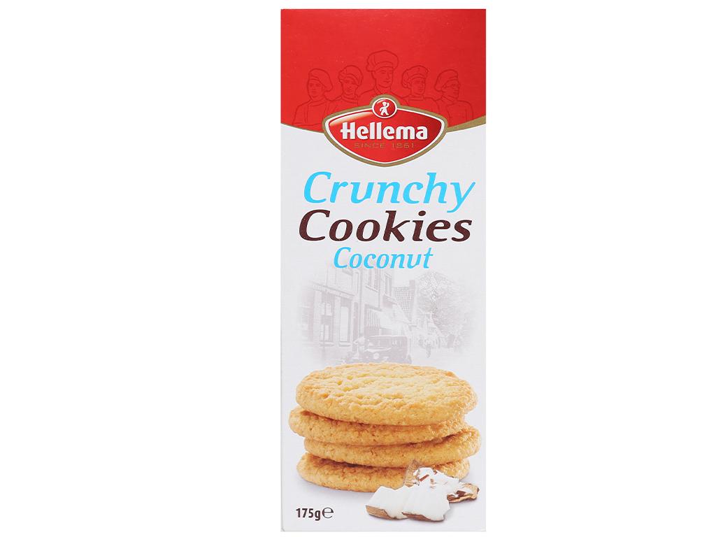Bánh quy dừa Hellema Crunchy Cookies hộp 175g