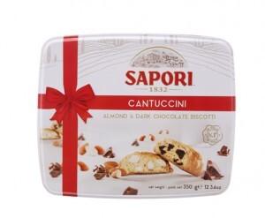 Bánh quy sôcôla giòn Cantuccini hiệu Sapori – 350g