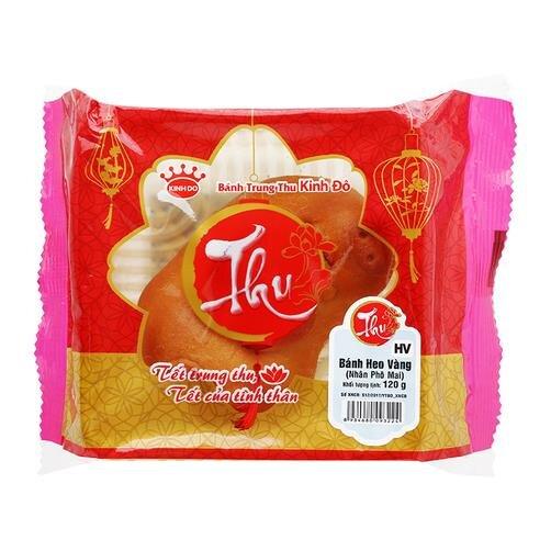 Bánh trung thu - Bánh heo vàng Kinh Đô nhân phô mai 120g