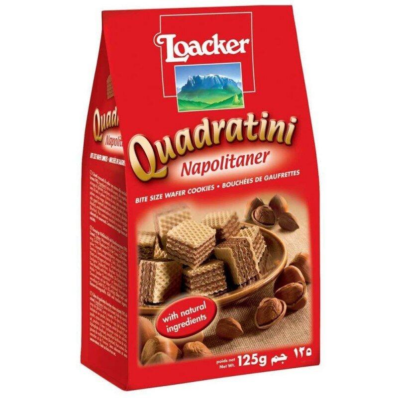 Bánh xốp Quadratini Kem hạt dẻ hiệu Loacker 125g