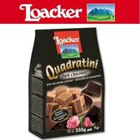 Bánh xốp Quadratini Sôcôla đắng hiệu Loacker 250gr