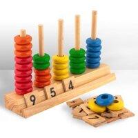 Bàntínhhọcđếm nhỏ bằng gỗ cao cấp Edugames GA521 -  dành cho trẻ trên 3 tuổi