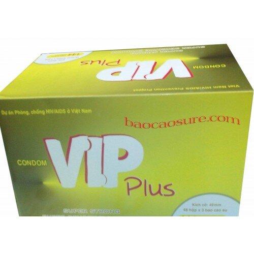 Bao cao su Vip plus 48 hộp mỗi hộp 3 chiếc
