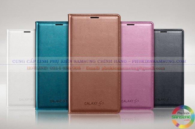 Bao da Flip Wallet Galaxy S5 G900 chính hãng Samsung