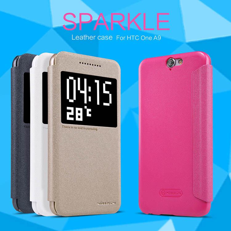 Bao da HTC One A9 Nillkin Spakle chính hãng