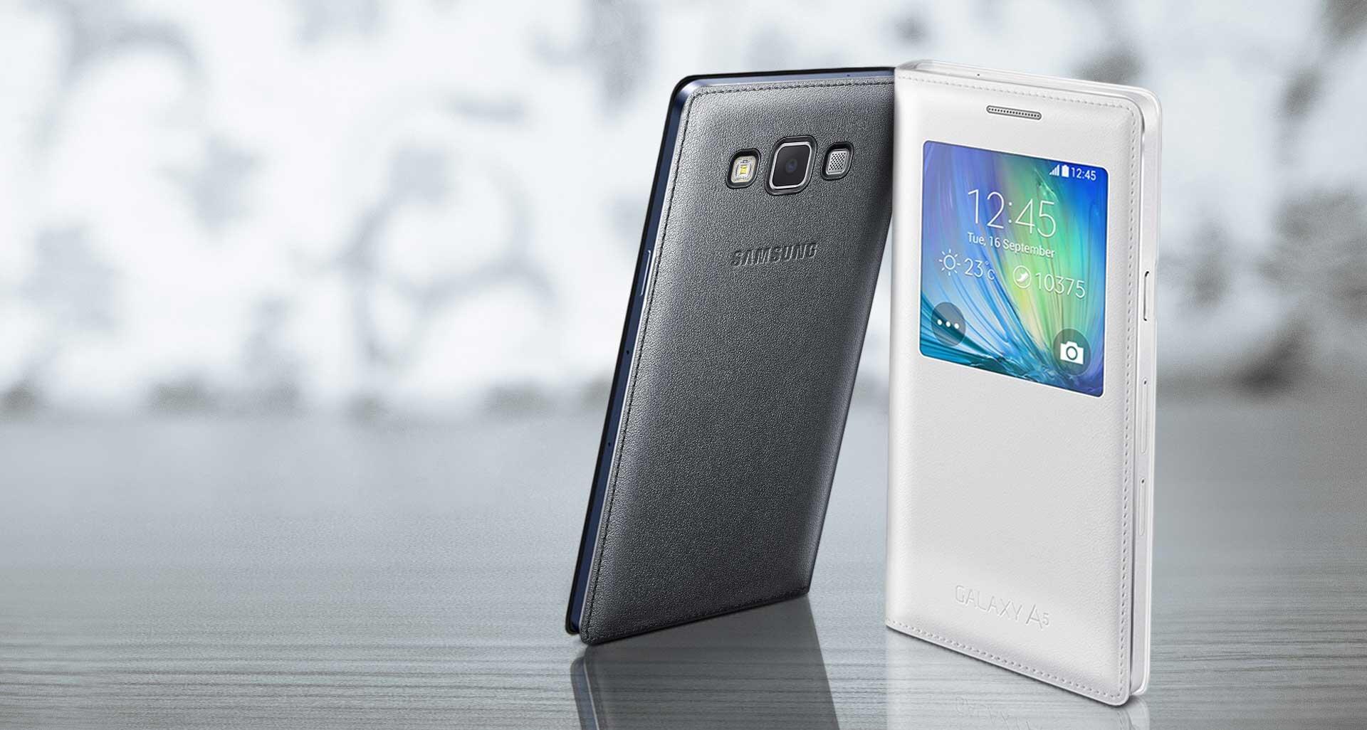 Bao da Samsung A7 Sview Cover màu Đen