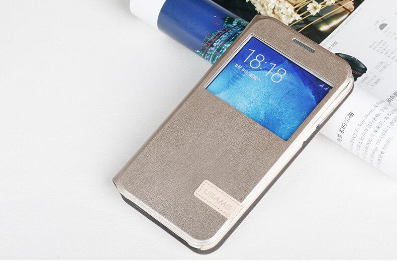 Bao da Sview Samsung A8 hiệu Usams chính hãng