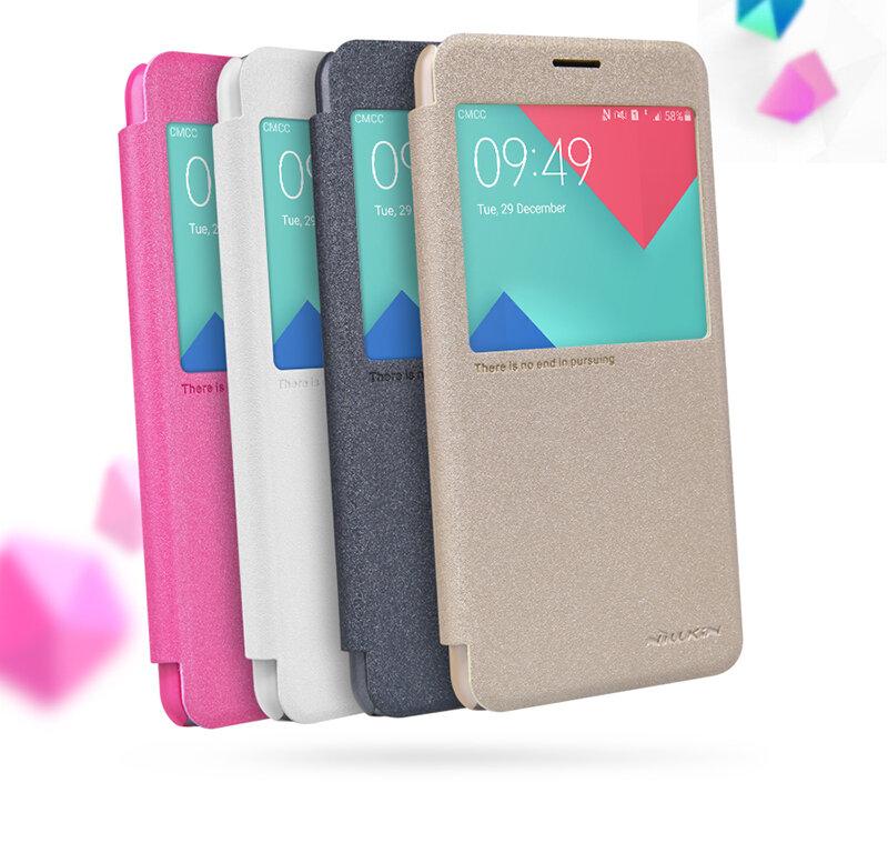 Bao da Sview Samsung A9 hiệu Nillkin