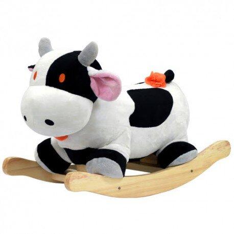 bập bênh thú bông hình bò