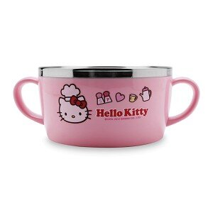 Bát ăn cho bé bằng thép không gỉ Hello Kitty Hello Kitty Lock&Lock LKT475