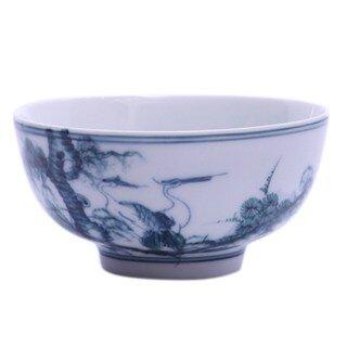 Bát ăn cơm vẽ Tùng Hạc - 6 x 12 cm
