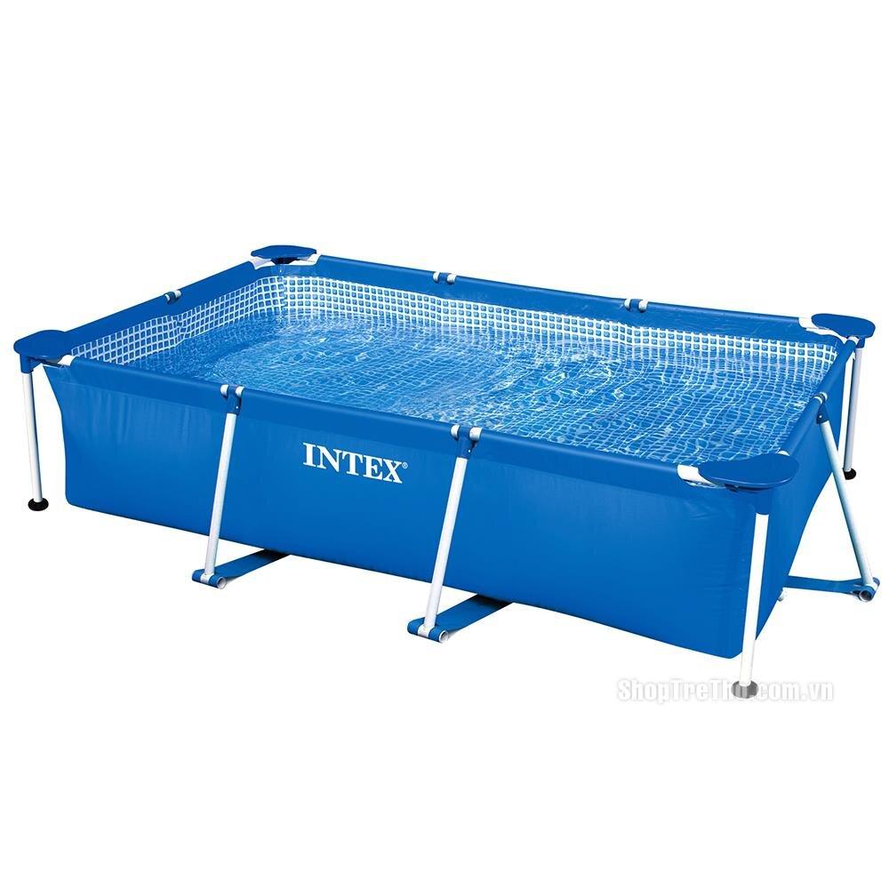 Bể bơi gia đình khung kim loại hình chữ nhật 58981