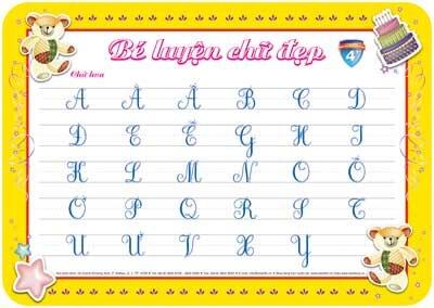 bé luyện chữ đẹp nét liền