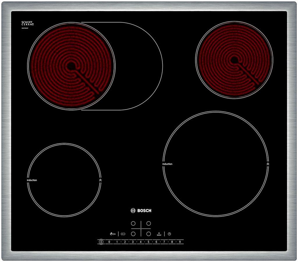 Bếp điện từ Bosch PIC645F17E - Tổng công suất : 7200W , Kích thước sản phẩm: 58 x 583 x 513 mm