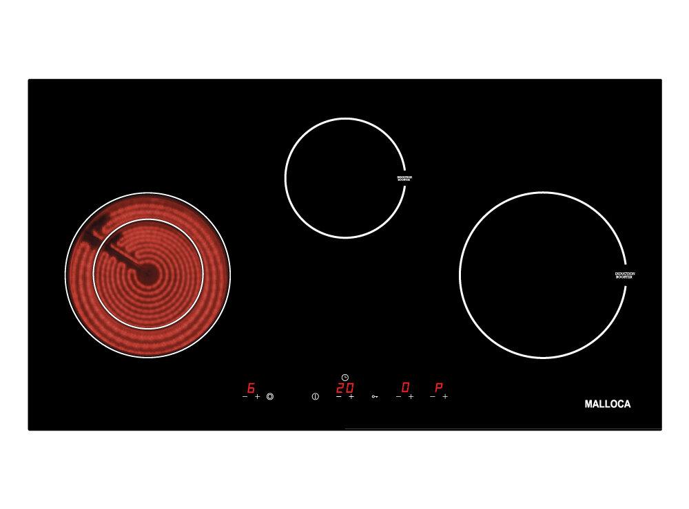 Bếp điện từ Malloca MH 03IRB - 2 bếp từ, 1 bếp điện