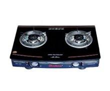 Bếp gas dương mặt kính QueenHouse QH-650 - Bếp đôi , màu đen