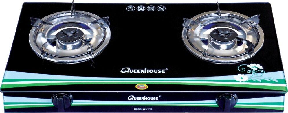 Bếp gas dương mặt kính Queenhouse QH-1719