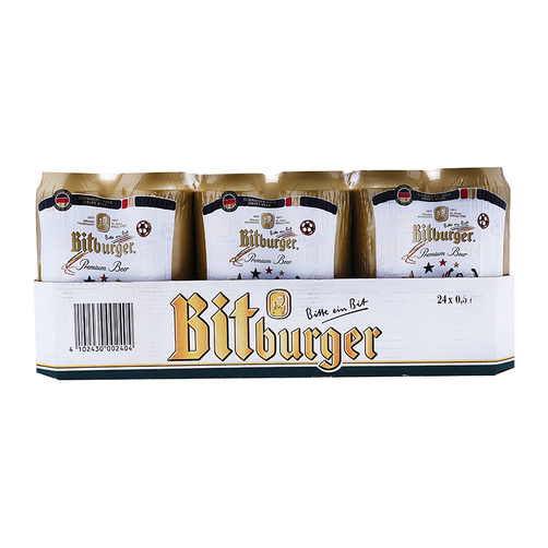 Bia Bitburger Premium thùng 24 lon x 500ml