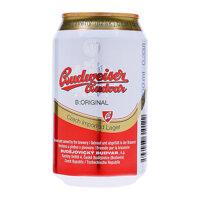 Bia Budweiser Budvar Tiệp lon 330ml