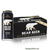 Bia Gấu Đức Bear Beer Strong 7.7% - Thùng 24 lon 500ml