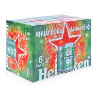 Bia Heineken lốc 6 lon x 330ml