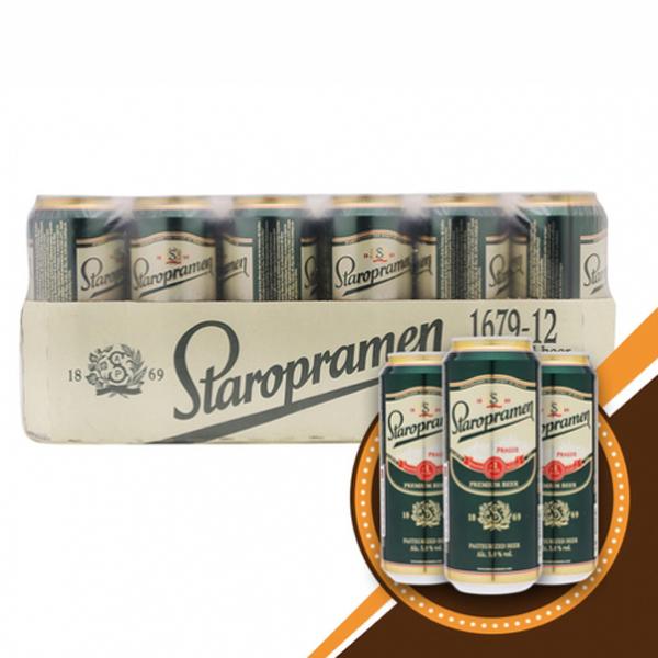 Bia Staropramen thùng 24 lon 500ml